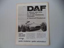 advertising Pubblicità 1965 DAF VARIOMATIC