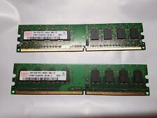 Hynix 2x 1GB 1RX8 PC2-6400U-666-12 HYMP112U64CP8-S6 AB-C