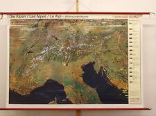 Wandkarte Alpenkarte 196x134 1982 vintage Alps Remote sensing Satellite imagery