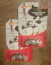 2 HOT WHEELS DISNEY STEAMBOAT WILLIE 32 FORD 1/8 MICKEY MOUSE
