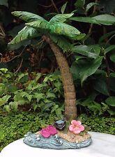 Miniature Dollhouse FAIRY GARDEN ~ Sea BEACH Luau Palm Tree with Flip Flops