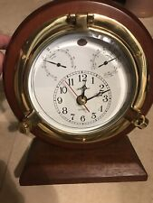 Seth Thomas Meridian #1046 Clock With Hygro & Thermo Gages