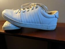 Mens K-Swiss White Athletic Sneakers Tennis Shoes (Classic VN) Leather SZ 10