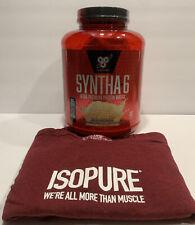 BSN Syntha-6 Ultra Premium Protein Powder Shake Mix Vanilla Ice Cream Free Shirt