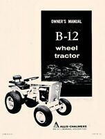 allis chalmers b-12 b12 wheel tractor operators manual