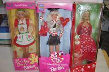 3 New Special Edition Barbie Dolls 25 Year Disney Holiday Treats Season Sparkle