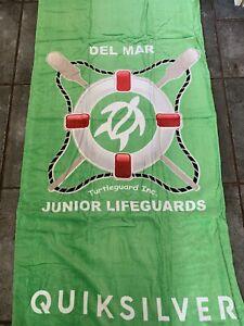 DEL MAR JUNIOR LIFEGUARD BEACH TOWEL : QUIKSILVER BEACH TOWEL 30 x 60