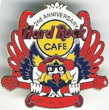 Hard Rock Cafe BALI 1995 2nd Anniversary PIN Garuda Holding Guitars - HRC #660