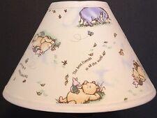 Nursery lamps shades ebay classic winnie the pooh best friends fabric nursery lamp shade aloadofball Choice Image