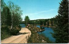Postcard Canada Ontario Haliburton Highlands Greetings From Moore's Falls AB15