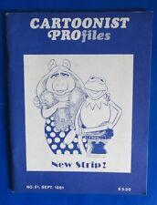 1981 CARTOONIST PROFILES #51 VF- Muppets Kermit Miss Piggy Jim Henson