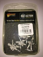 BOLT ACTION - 1 HQ PARACADUTISTI GERMAN ARMY IN BLISTER - NUOVO