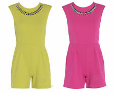 Unbranded Women's No Pattern Short Sleeve Jumpsuits & Playsuits
