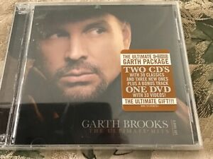 Brand New Garth Brooks The Ultimate Hits 2 Audio CD +1 DVD Set W/33 Videos-Great