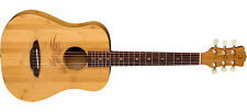 Luna Safari Bamboo acoustic guitar NEW - 3/4 Travel Size w/ Gig Bag