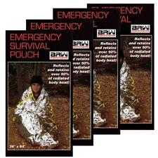 BRW Emergency Survival Pouch 4 Pack emergency survival outdoor space blanket NEW