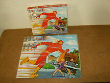 Ancien puzzle vintage - MB serie SUPER HEROS - FLASH - 1977 - DC COMICS INC