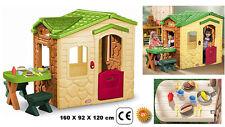 casetta giardino bimbi con tavolo cucina forno caminetto campanello suoni piatti