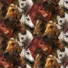 Dartmoor Pony Quality Fabric Cushion Upholstery Craft Quilting Panel