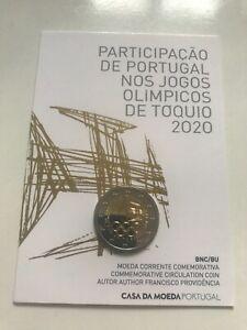 A saisir prix cassé coincard 2 eur Portugal 2021 jo Tokyo