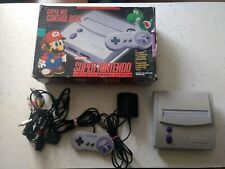 Super Nintendo NES System Video Game Console  Gray jr. Mini SNES  W/ box