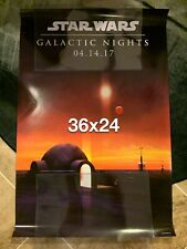 Star Wars Galactic Nights 2017 Exclusive 36 x 24 INCH Poster DISNEY PARKS