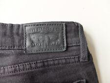 Womens Levi's 712 Slim Black denim jeans | W28 L30 Skinny elastane