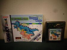 NINTENDO GAMEBOY COLOR DRAGON TALES DRAGON WINGS GAME W/ MANUAL