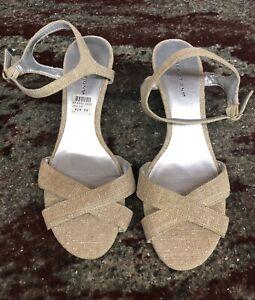 Predictions Wedge Heel High heel Pump Sandal Women's Size 10