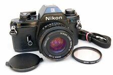 Nikon EM 35mm SLR Camera with Series E 50mm f1.8 Lens & Strap