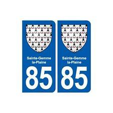 85 Sainte-Gemme-la-Plaine blason autocollant plaque stickers ville arrondis