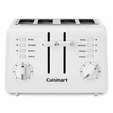 Cuisinart Cpt-142 4-Slice wide toasting slots Bagel Bread Toaster, White