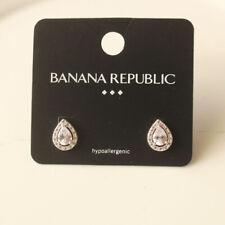 New Banana Republic CZ Teardrop Stud Earrings Gift Fashion Women Party Jewelry