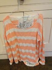 American Rag Cie Pink/orange And Cream Top Size S