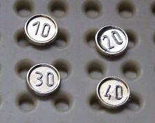 Pieces monnaie Lego Pirates coins 10 20 30 40  Sets 6280 6285 6277 10040 6278