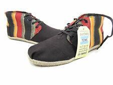 TOMS, DESERT BOTAS, ECI STRIPE, MENS, RED/ORANGE/BLACK, US SIZE 14 M, EUR 47.5
