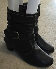 Women's Patrizia by Spring Step Brown Ankle Buckle Boots  Sz. 9 M