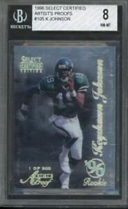 1996 Select Certified Artists Proof Keyshawn Johnson RC Rookie BGS 8 #105