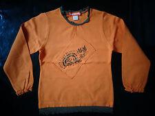 tee-shirt à manches longues orange 5 ans ORCHESTRA TBE