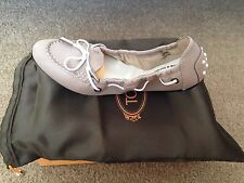 NEW Authentic NIB TOD'S Dee Laccetto Ballet/Ballerina Flats Size 37.5 Leather