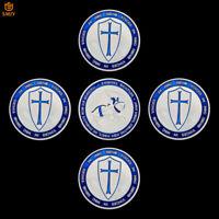 5Pcs Blue Templar Knight Crusader Tooth European Military Commemorative Coins