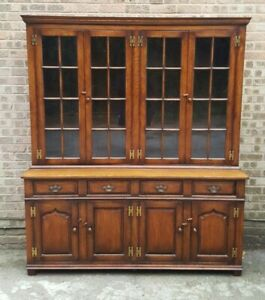 TITCHMARSH & GOODWIN SOLID OAK LIBRARY BOOKCASE