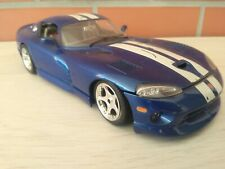 Burago Vintage 1996 Dodge Viper GTS Coupe Blue 1:18 Metal Diecast Italy made