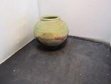 vintage raku pottery vase
