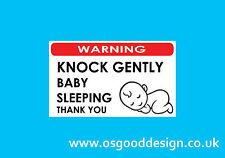 Baby Sleeping Knock Door Gently Quiet Sticker Sign High Quality Vinyl A56