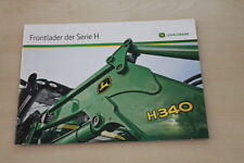 157167) John Deere Frontlader H 360 380 480 Prospekt 07/2012