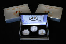 2006 20th Anniversary Silver Eagle Three Coin Set
