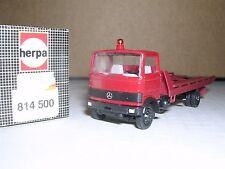 "Herpa #814500 Mercedes Lp813 Rollbed Truck ""Red"" H.O.Gauge"