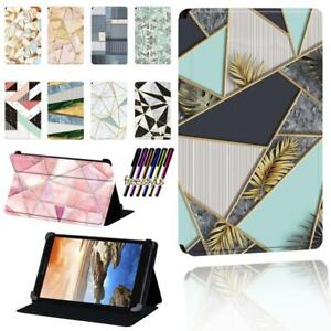 """Printed LEATHER STAND CASE COVER Fit Lenovo Tab 7"""" 8"""" 10"""" thinkpad Tablet + Pen"""