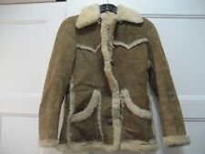 VINTAGE WOMEN'S HOMESTEAD SHEEP SKIN COAT MADE IN NEW ZEALAND SIZE 32 82CM